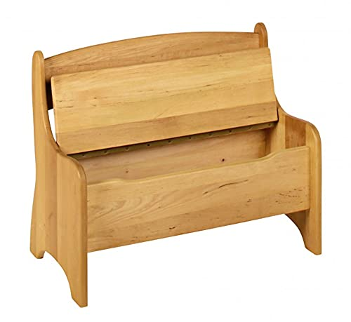 BioKinder 24785 Levin Kindersitzbank Sitzbank Truhenbank für Kinder aus Massivholz Erle und Kiefer 70 x 36 x 55 cm Flieder lasiert - 3