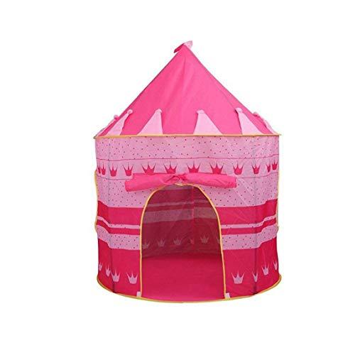 Kinder-Schloss-Spiel-Zelt mit Glow in The Dark Sterne Faltbare Pop Up Rosa Spiel-Zelt/Haus-Spielzeug für Indoor & Outdoor Nutzung
