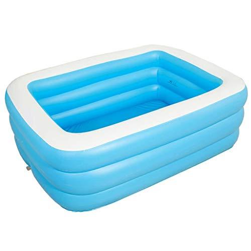 Badewannen Aufblasbare Stilvolle Paar Aufblasbare Thick-Badebottich Erwachsene Haushalt Folding-Badebottich Kinderbadebottich (Color : Blue, Size : 110x90x46cm)