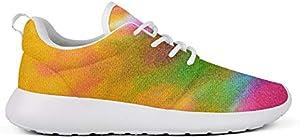 WZLAN Trippy Tie Dye Art Women's Running Shoes Designer Flats Gym Athletic Sneaker