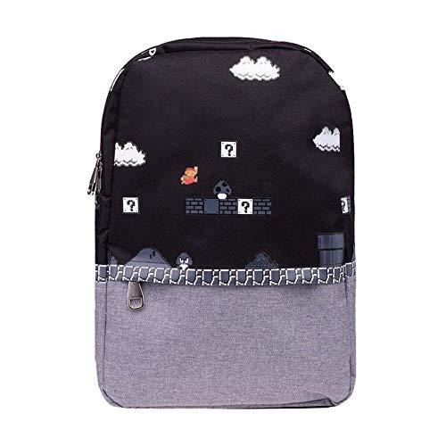 Difuzed Herren Nintendo - Super Mario 8bit Placed Print Backpack Rucksack, Schwarz, One size