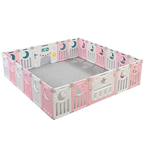 Fantastic Prices! Large Foldable Playpen for Baby and Toddlers,Easy Assembled Plastic Baby Playpen w...