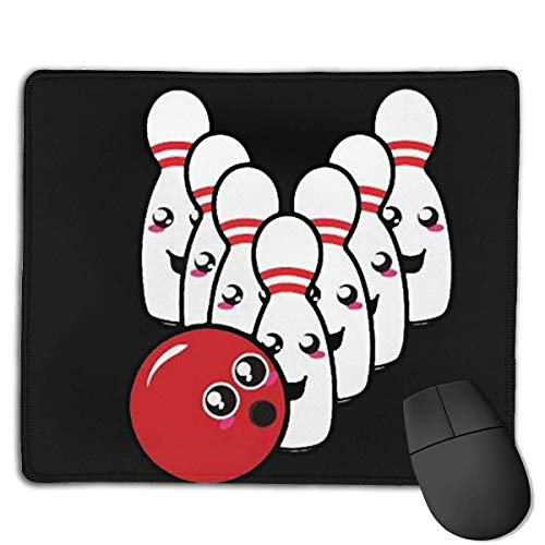 Cute Bowling Ball Locking Mouse Pad Anti-Slip Soft Gaming Rubber Mousepads