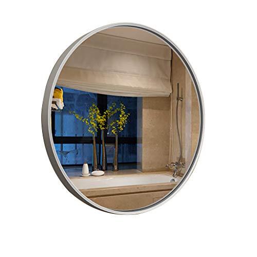 Miroir De Courtoisie Mural Miroir en Acier Inoxydable Cadre De Salle De Bains Miroir Grand Miroir DéCoratif Rond