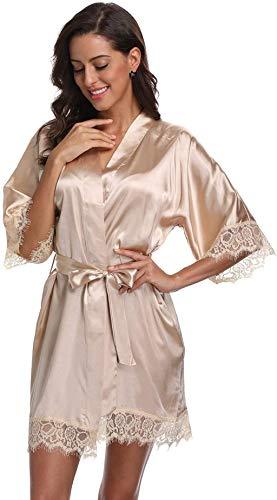 Original Kimono - satén corto estilo kimono para mujer con lazo.