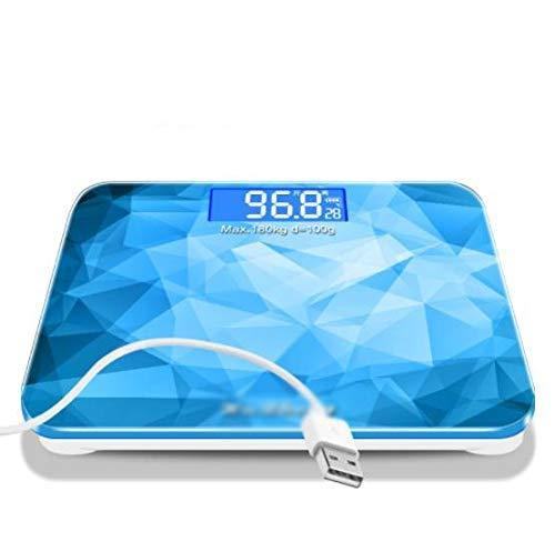Oplaadbare elektronische weegschalen menselijke schaal gezondheid van huishoudelijke volwassen gewichtsverlies weegschaal gewicht meter nauwkeurig wegen (Kleur: B) QIANGQIANG (Color : C)