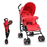 LuvLap Joy Stroller/Buggy, Compact & Travel Friendly, for Baby/Kids, 6-36 Months (Red)