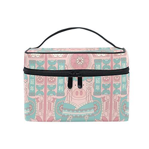 Make-up tas van porselein, geluksbrenger, voor vrouwen, reizen, make-up tas, toilettas