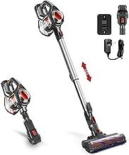 Cordless Vacuum, 4 in 1 Powerful Suction Vacuum Cleaner, 1.3L Capacity, Lightweight Stick Vacuum with HEPA Filters for Hardwood Floor Carpet, Pet Hair - Red