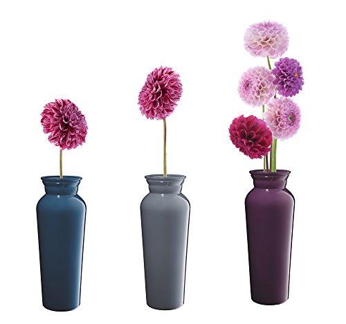 6 x Fenstersticker Blumen in Vase, Fensterbilder, Windowsticker, Fensterdeko, Fliesensticker, Fliesenaufkleber, Fenster Tattoo, Fensterfolie, 3 verschiedene Designs, mehrmals wiederverwendbar