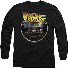 Popfunk Back to The Future Delorean Longsleeve T Shirt & Stickers (Medium) Black