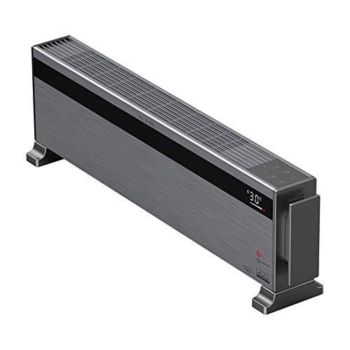 JIEZ Ventilador del Calentador de zócalo/Calefacción por radiador de Piso móvil con Control Remoto, termostato de convección, baño IPX4 a Prueba de Agua, protección contra sobrecalentamiento de