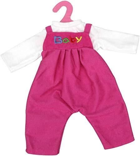 18 Pollici Bambole Vestiti - Adorabile T-shirt Bianca & Rosa Rosso Tuta Pant con Appendiabiti