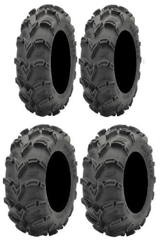 Powersports Bundle Full Set of ITP Mud Lite XL 28x10-12 And 28x12-12 ATV Tires (4) by