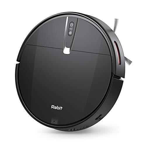 Robit V3S Robot Vacuum Cleaner, 2200Pa High Suction, Quiet & Slim, 4400mAh Battery & Self-Charging, Robotic Vacuum Cleaner for Hard Floor & Low Pile Carpet, Pet Hairs