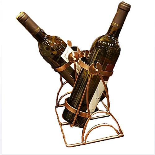 SOYYD Weinflaschenhalter/Weinregal 2 Flaschen Eisendraht Schaukel Form Weinregal Schmiedeeisen Weinregal Geschenk Kreative Dekoration Verzierungen