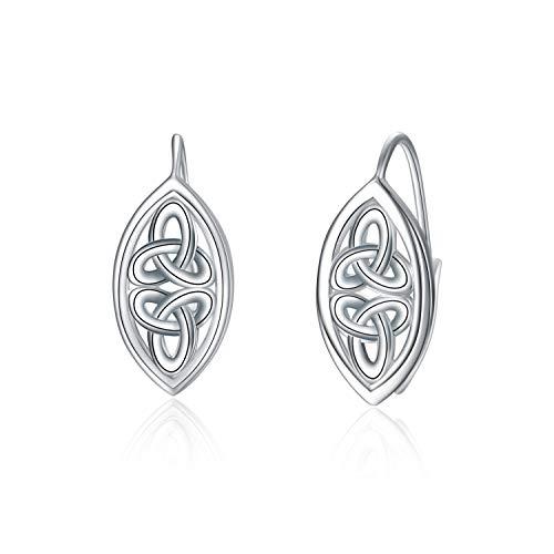 WINNICACA Celtic Knot Earrings Sterling Silver Leverback Earrings Jewelry Birthday Valentine Gifts for Women Mom Wife