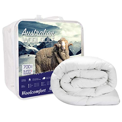 Australian Made Merino Wool Quilt/Doona/Duvet 700GSM (240x210cm King)