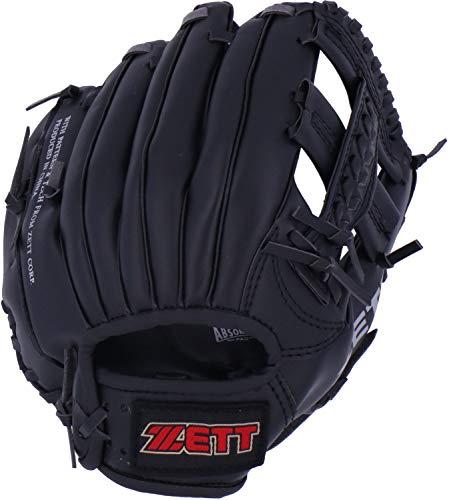 ZETT(ゼット) 少年野球 軟式 野球グローブ オールラウンド 初心者用 衝撃吸収パッド付き 10.5インチ 右投用 ブラック BDG2112 グラブ