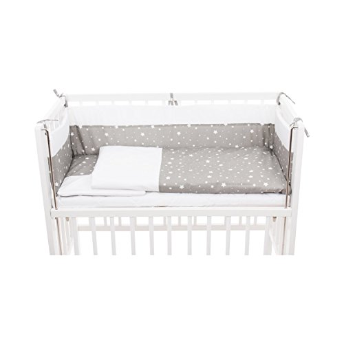 BORNINO HOME L'ensemble de lit Cocon, gris clair avec étoiles