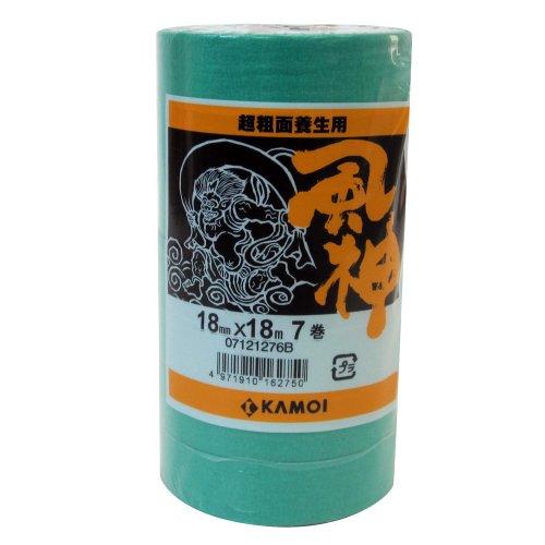 カモ井 マスキングテープ 風神 超粗面用 7巻入 18mm×18M