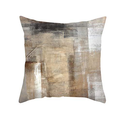 DuangDuang Peach skin hug pillowcase geometric abstract sofa cushion pillowcase watercolor printed cushion cover, household pillowcase, suitable for office, conference room, car decoration