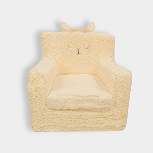 PETIT ALO Sillon para Bebes de 1 a 4 Años | Sillón Infantil para Niños con Motivo Llama | Desenfundable, Lavable, Seguro y Práctico