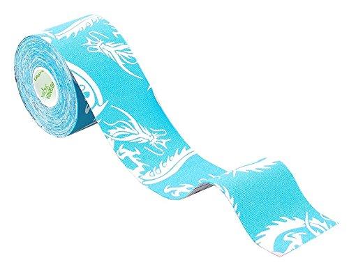 Nasara KT23 blauer Drache, Lifestyle Kinesiology Tape, 5 cm x 5 m