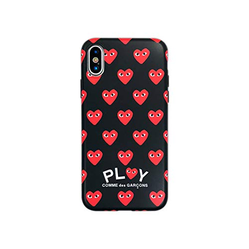 Comme des Garcons Repeating Heart Logo iPhone X/iPhone Xs Case Black