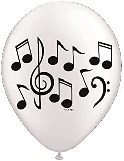 """Music Note Latex Balloons - 10 Balloons - 11"""" Each"""