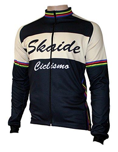 Skaide Radtrikot Ciclismo Langarm Retro (L)