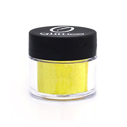 Gone Bananas - Bright Iridescent Yellow Fine Glitter Powder .008 - Loose Glitter Perfect for Nail Art, Nail Gels, and Nail Acrylics Supplies- Made in the USA! (10 Gram Jar/.25 oz) by Glitties Nail Art