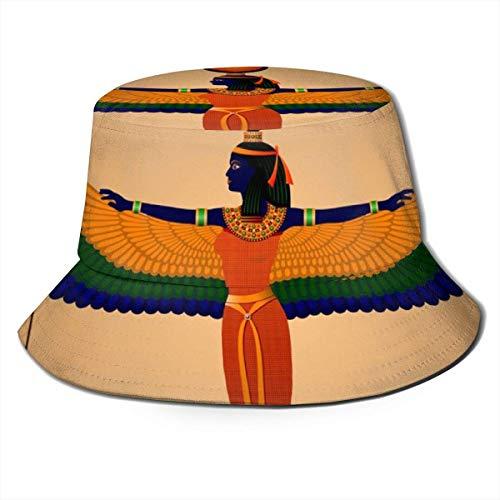 Lawenp ISIS Mural Egipcio para Hombre, Mujer, Sombrero para el Sol, Sombrero de Pescador, protección UV, Senderismo al Aire Libre, Pesca, Gorra de Moda Lavada