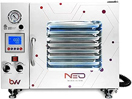 5 Wall Heating Best Value Vacs 1.9CF Touch Screen Vacuum Oven LEDs and 11 Shelves Standard with VE160 7CFM Single Stage Rotary Vane Vacuum Pump