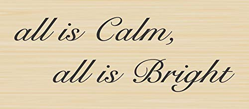 All is Calm Christmas Greeting Rubber Stamp by DRS Designs Rubber Stamps - Made in USA
