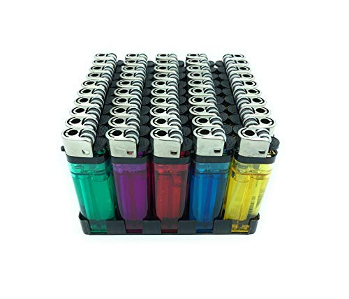 50 x Atomic reib Cilindro de mechero FW softflame desechables transparente surtidos