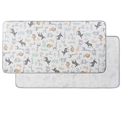 Buy Cheap W WelLifes Baby Play Mat 3D Air Mesh Organic Cotton Non-Toxic Non-Slip Safari