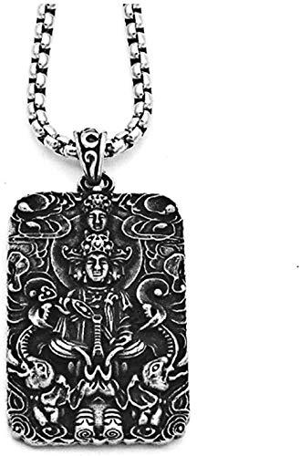 ZPPYMXGZ Co.,ltd Collar de Moda para Hombre, Collar con Colgante de Buda Vintage, joyería, Collar de Personaje Masculino