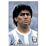 JIANGGE Diego Armando Maradona Arte Cartel Lienzo Pintura Sin Enmarcar Pared Arte Fotos Impresión,40x60cm Sin Marco