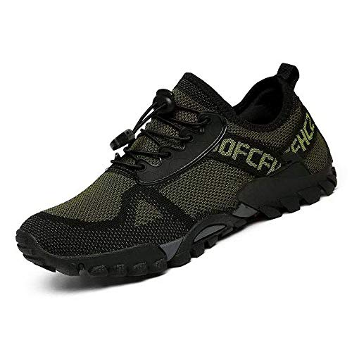 ABAO Hiking Shoes Men Women Outdoor Sports Shoes Non-Slip Breathable Sneakers Low Top Walking Shoes for Outdoor Trailing Trekking Walking Climbing Travel Lightweight ArmyGreen 8 Women/6.5 Men
