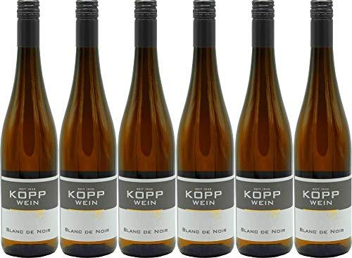 6x Gutsabfüllung Weingut Kopp Pfalz Blanc de Noir Auslese halbtrocken Wein (weiß) 2018 - Weingut Kopp, Pfalz - Weißwein