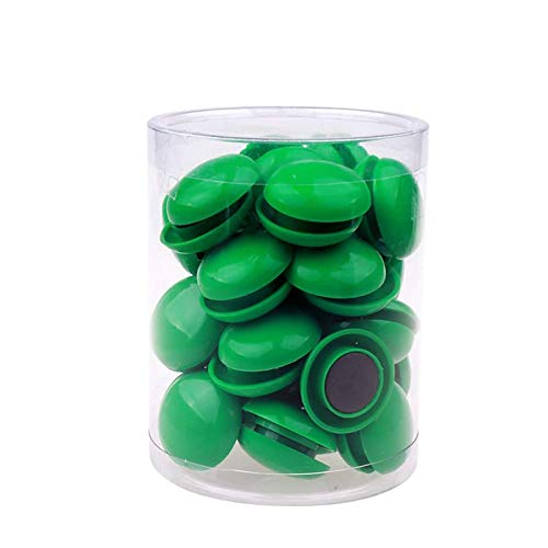 80 imanes de pizarra blanca para nevera, botón magnético redondo de plástico para oficina, escuela, rojo, 20 mm., color verde