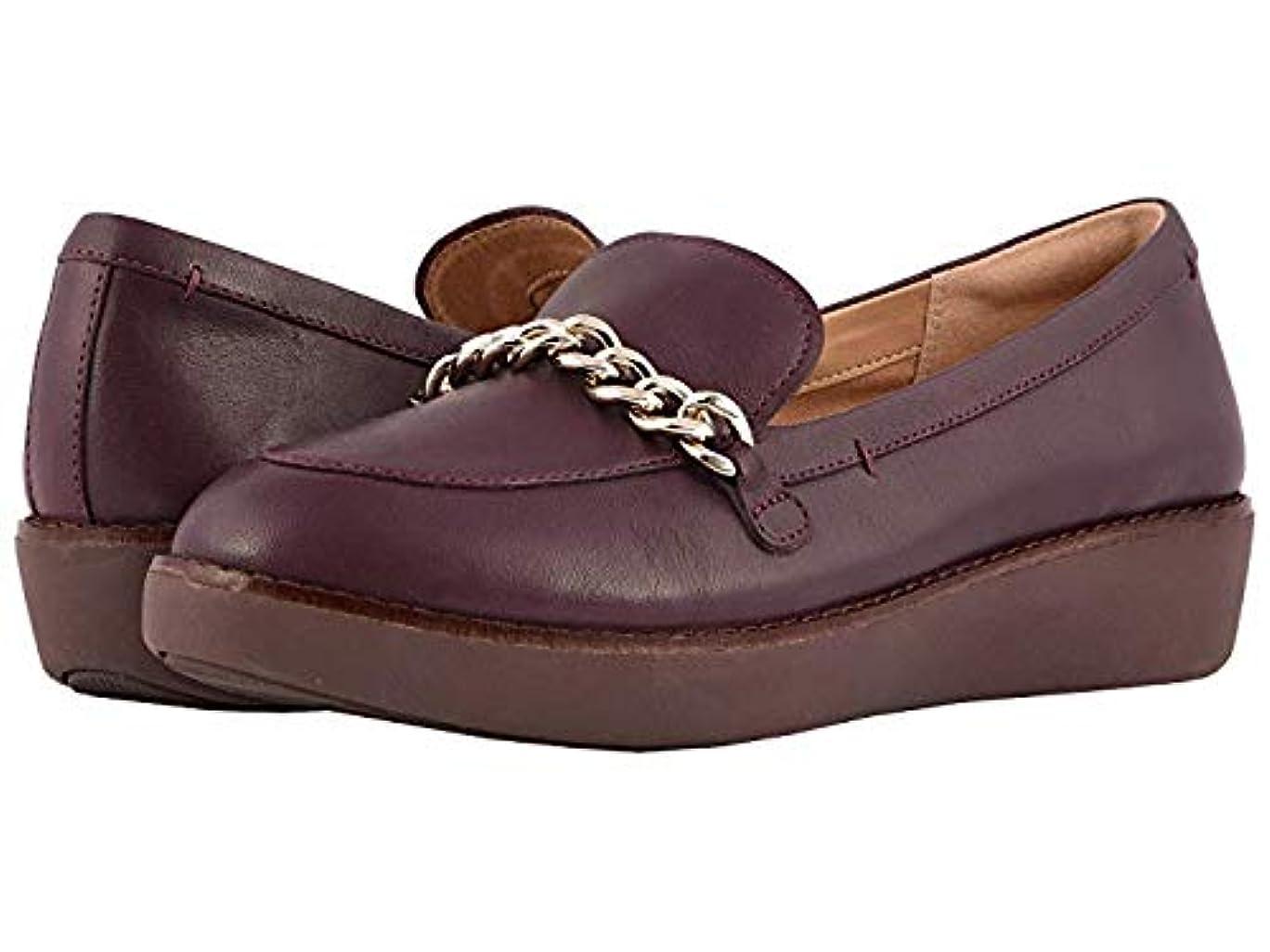 草外交問題カタログ[FitFlop(フィットフロップ)] レディースローファー?靴 Petrina Chain Moccasin Deep Plum US 10 (27cm) M (B) [並行輸入品]