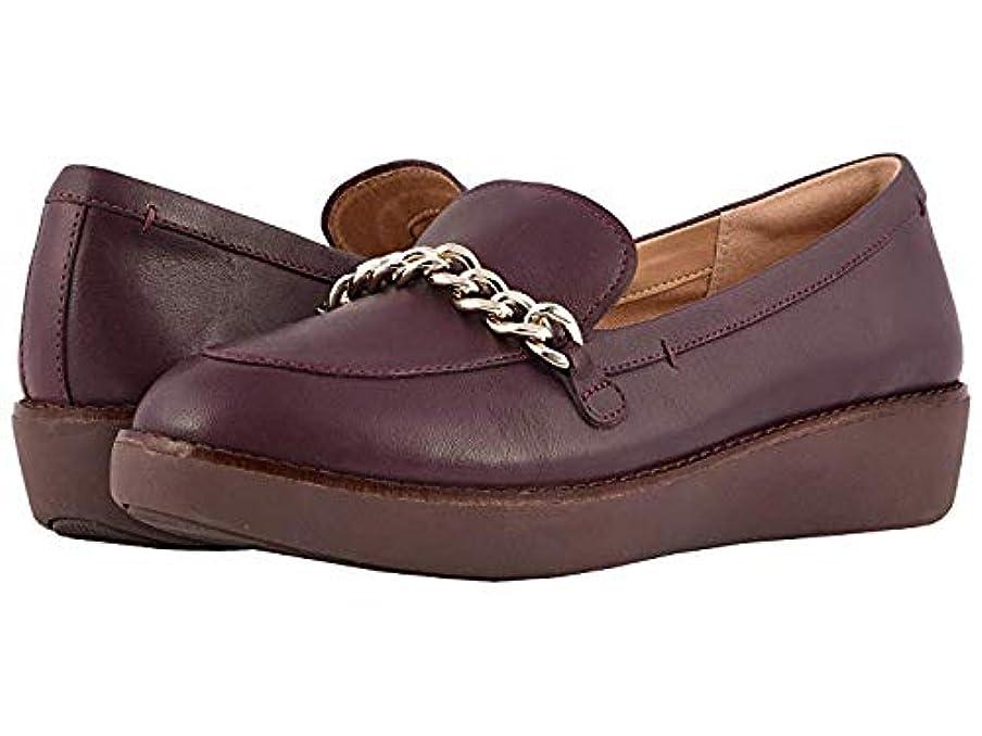 メタン葉を拾うトロイの木馬[FitFlop(フィットフロップ)] レディースローファー?靴 Petrina Chain Moccasin Deep Plum US 7 (24cm) M (B) [並行輸入品]