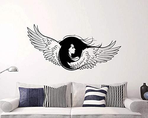 Pegatinas de vinilo para pared, hermosas alas, alas de ángel cristiano, dios religioso, calcomanía de pared para gimnasio