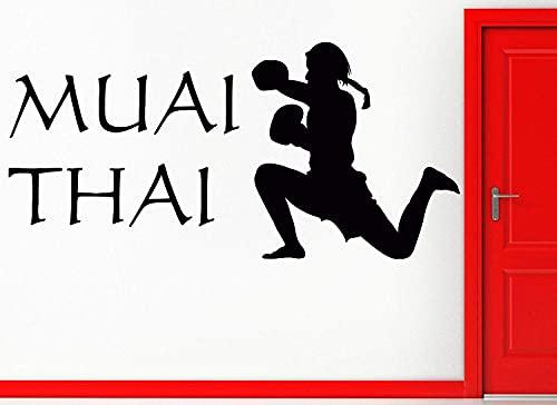 Wandaufkleber Muai Thai Martial Arts Mix...