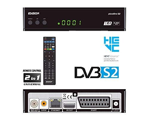 EDISION Piccollino DVB-S2 Full HD Sat Receiver H.265/HEVC Kartenleser USB Schwarz