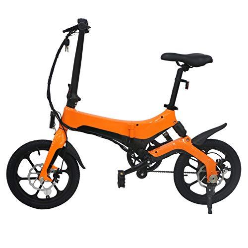 Selotrot Bicicleta eléctrica plegable - 36 V 5.2 Ah 25 km/h velocidad máxima 120 kg carga máxima ajustable portátil resistente para ciclismo al aire libre