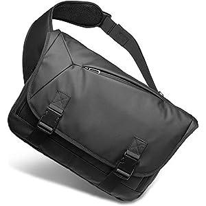 [Bellstone] メッセンジャーバッグ 大容量 肩掛け 防水 斜め掛け ボディバッグ メンズ PC A4収納可 BS-BG-1805