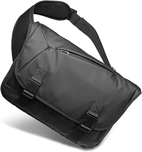[Bellstone] メッセンジャーバッグ 大容量 肩掛け 防水 斜め掛け ボディバッグ メンズ PC A4収納可 BS-BG-1805 (黒)